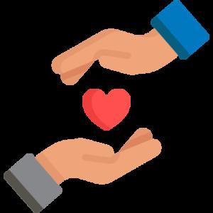 handen met hart